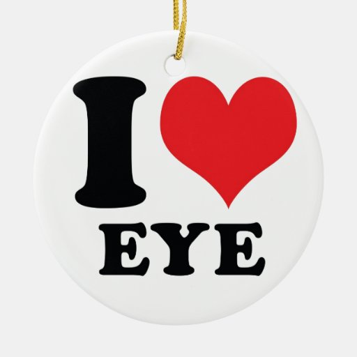 I ojo del corazón/del amor ornamento para arbol de navidad