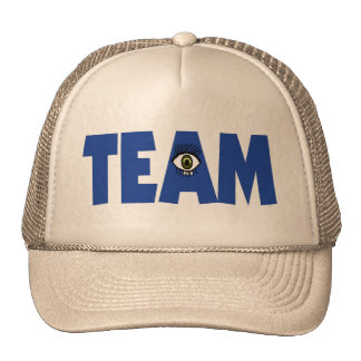 I ojo en equipo gorras