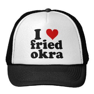 I Okra frito corazón Gorras