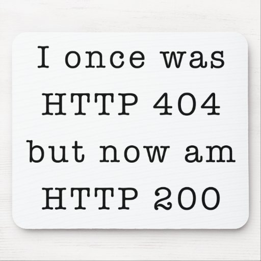 I once was HTTP 404 Mouse Pad