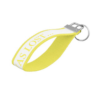 I Once Was Lost Grosgrain Yellow Keychain