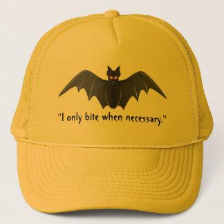 """""""I Only Bite When Necessary."""" - Bat in Flight Trucker Hat"""