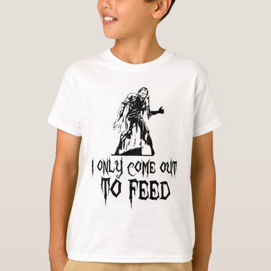 I Only Come Out To Feed Retro Zombie T-Shirt