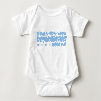 I Only Cry When Republicans Hold Me Baby Bodysuit