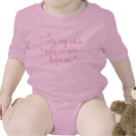 I only cry when ugly people hold me - Girl Version Baby Bodysuits