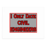I Only Date Civil Engineers Postcard