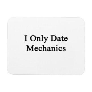 I Only Date Mechanics Rectangle Magnet