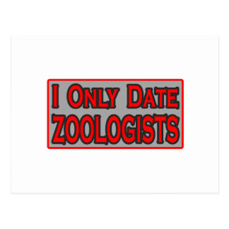 I Only Date Zoologists Postcard