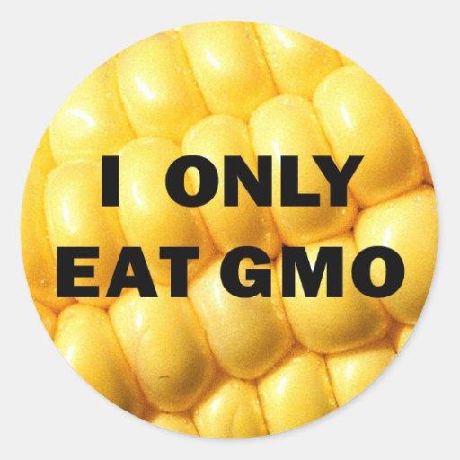 """I only eat GMO"" Sticker"