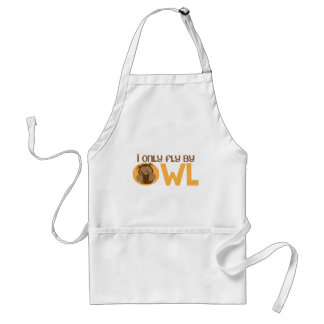 I only fly by owl adult apron