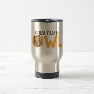 I only fly by owl travel mug