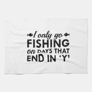 I Only Go Fishing Hand Towel