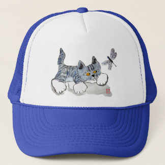 I Only have Eyes for You - kitten and dragonfly Trucker Hat