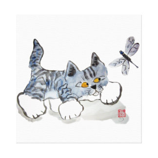 I Only Have Eyes for You - Kitten to Dragonfly Canvas Prints