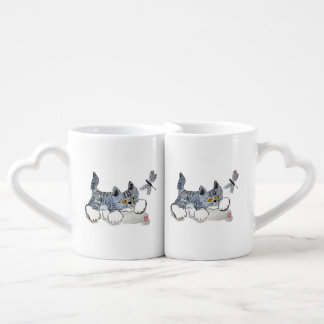 I Only Have Eyes for You - Kitten to Dragonfly Coffee Mug Set