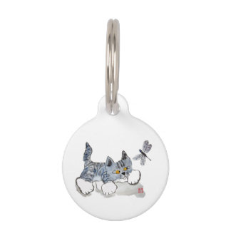 I Only Have Eyes for You - Kitten to Dragonfly Pet Nametag