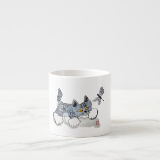 I Only Have Eyes for You - Kitten to Dragonfly Espresso Cup