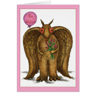 I Only Have Eyes For You Mothman Valentine Card