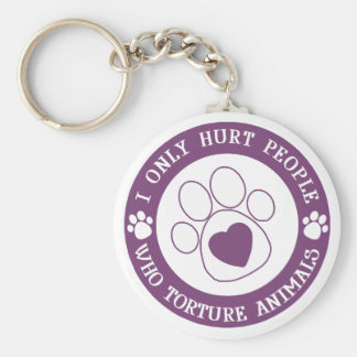 I Only Hurt People Basic Round Button Keychain