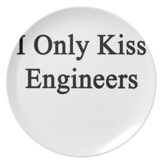 I Only Kiss Engineers Melamine Plate