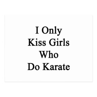 I Only Kiss Girls Who Do Karate Postcard