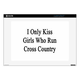 I Only Kiss Girls Who Run Cross Country Skins For Laptops