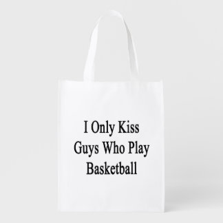 I Only Kiss Guys Who Play Basketball Market Totes