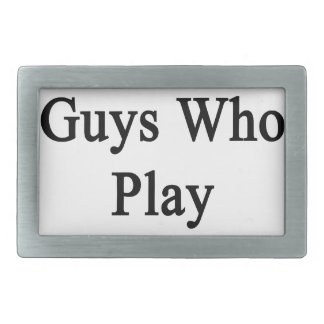 I Only Kiss Guys Who Play Volleyball Rectangular Belt Buckle