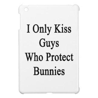 I Only Kiss Guys Who Protect Bunnies iPad Mini Covers