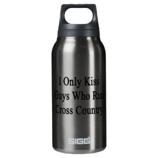 I Only Kiss Guys Who Run Cross Country Insulated Water Bottle