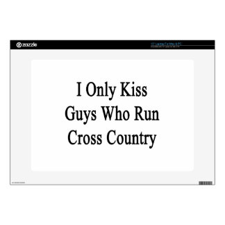 I Only Kiss Guys Who Run Cross Country Laptop Decals