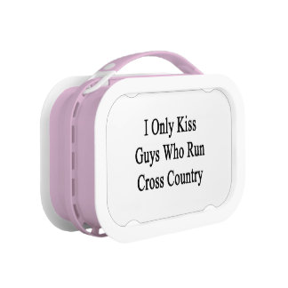 I Only Kiss Guys Who Run Cross Country Lunch Box
