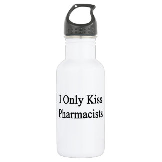 I Only Kiss Pharmacists Water Bottle
