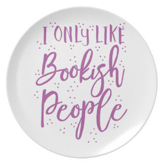 i only like bookish people dinner plate