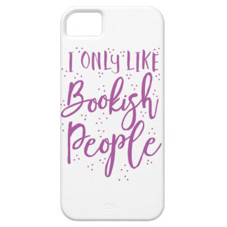 i only like bookish people iPhone SE/5/5s case