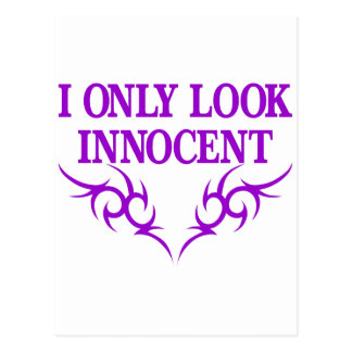 I Only Look Innocent Postcard