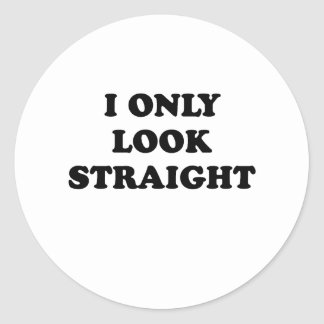 I only look straight round stickers