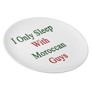 I Only Sleep With Moroccan Guys Plate