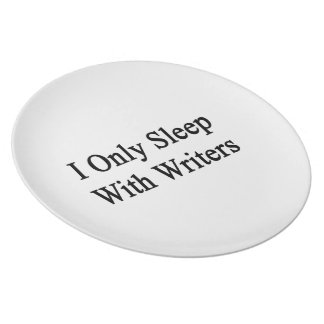 I Only Sleep With Writers Party Plate