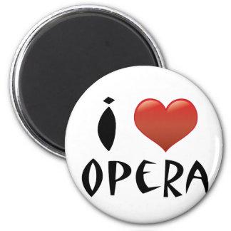 I ópera del corazón imán redondo 5 cm