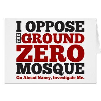 I Oppose the Ground Zero Mosque Card