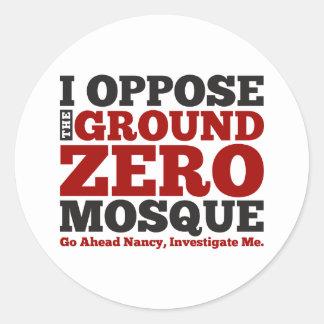 I Oppose the Ground Zero Mosque Round Stickers
