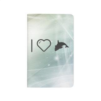 I orca Fishs del corazón Cuaderno Grapado