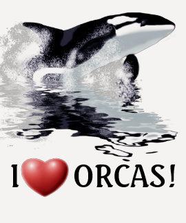 I ORCAS del CORAZÓN 3/4 camisa con mangas