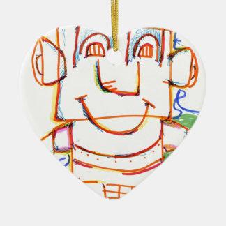 I ordenador adorno de cerámica en forma de corazón