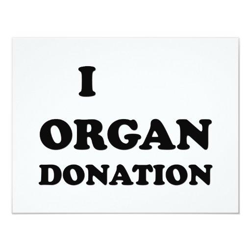 I Organ Donation 4.25x5.5 Paper Invitation Card