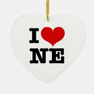I ornamento de nordeste del corazón ornamentos de navidad