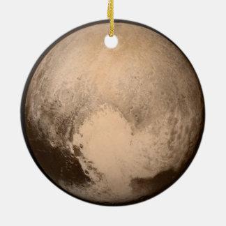 I ornamento del horizonte de Plutón del corazón Adorno Navideño Redondo De Cerámica