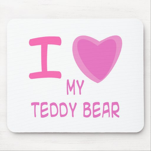 I oso de peluche del corazón (amor) mousepad