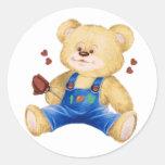 I oso del corazón U Pegatina